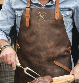Crafted Leather By European Splendor Cognac - Crafted Vintage Leather Apron