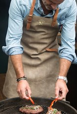 Crafted Leather By European Splendor Gray - Crafted Vintage Leather Apron