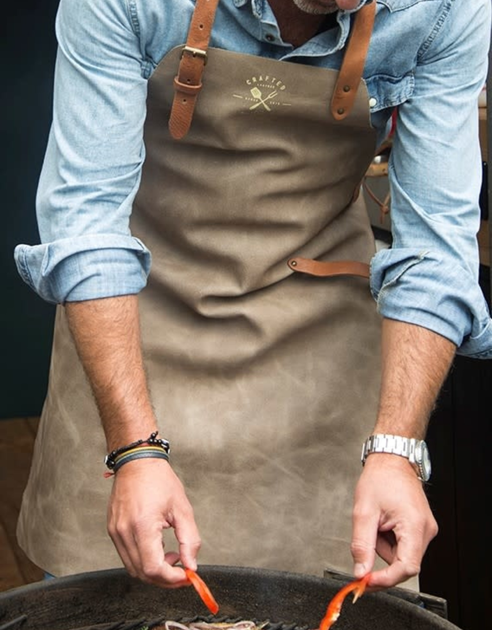 CL By European Splendor Gray - Crafted Vintage Leather Apron
