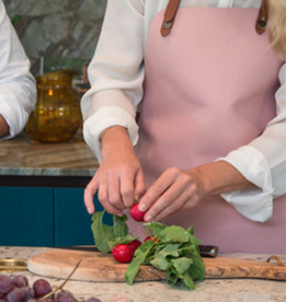 Pink - Crafted Leather Classic Apron