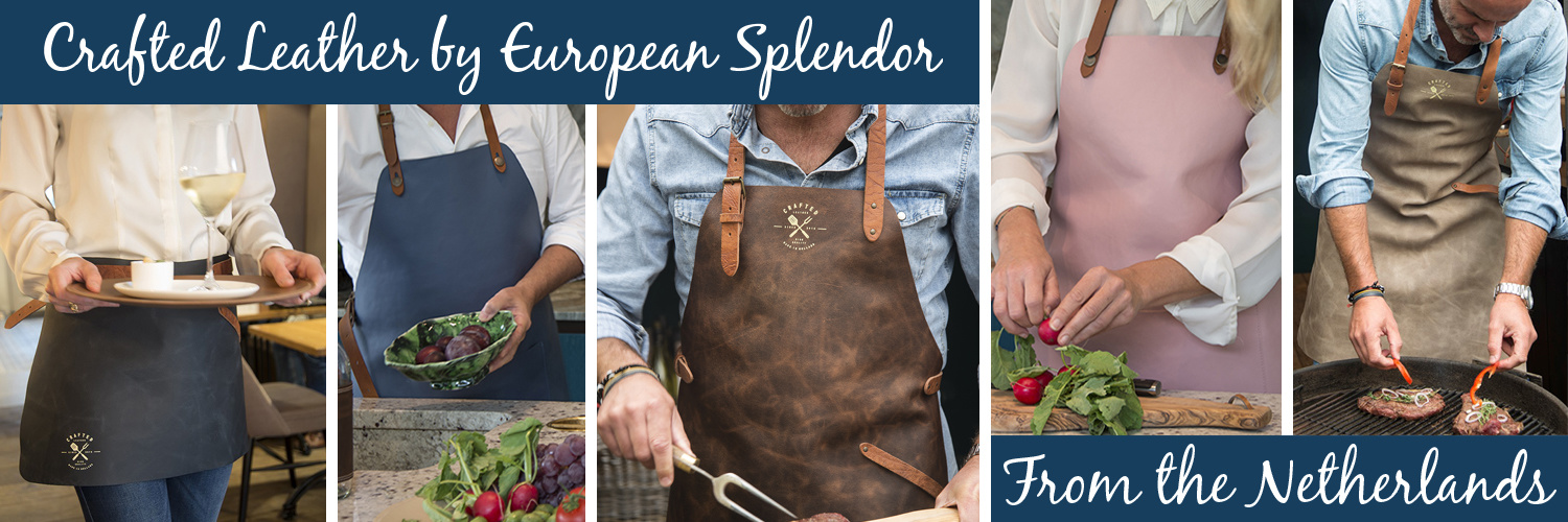 European Splendor Crafted Leather Aprons