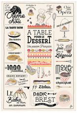 42F French Dessert Dish Towel