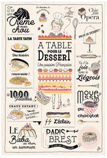 French Dessert Dish Towel