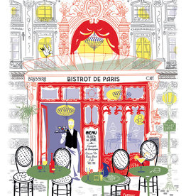 42F Distribution Bistro de Paris Dish Towel