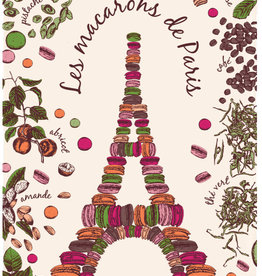 42F Distribution Macarons de Paris Dish Towel