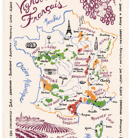 42F Distribution French Wine Map Dish Towel