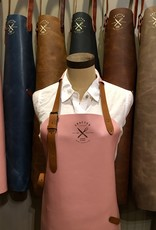 Crafted Leather By European Splendor Pink - Crafted Leather Classic Apron
