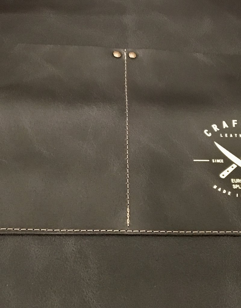 CL By European Splendor Black - Crafted Leather Vintage Half Apron
