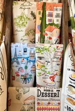 SDE French Wine Map Dish Towel