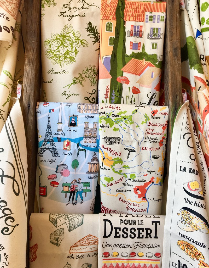 42F French Dessert Dish Towel
