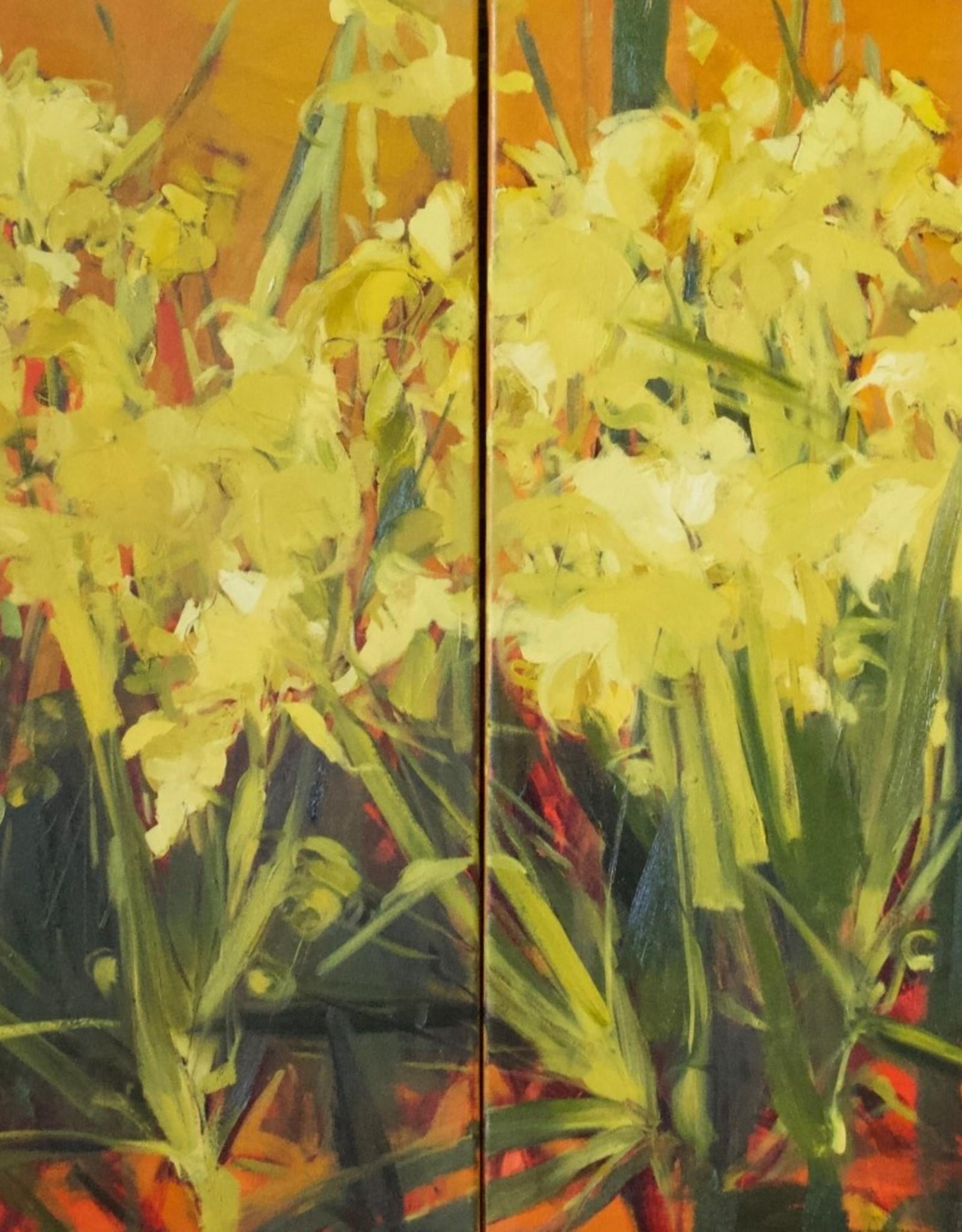 """Field of Irises - Oil on Canvas. 30"""" x 60"""" Ewa Perz"""
