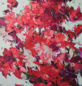 "Sweet Peas - Oil on Canvas 36"" x 48"" Ewa Perz"