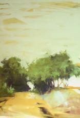 "Yellow Walk - Oil on Canvas Panel. 36"" x 48"" Ewa Perz"