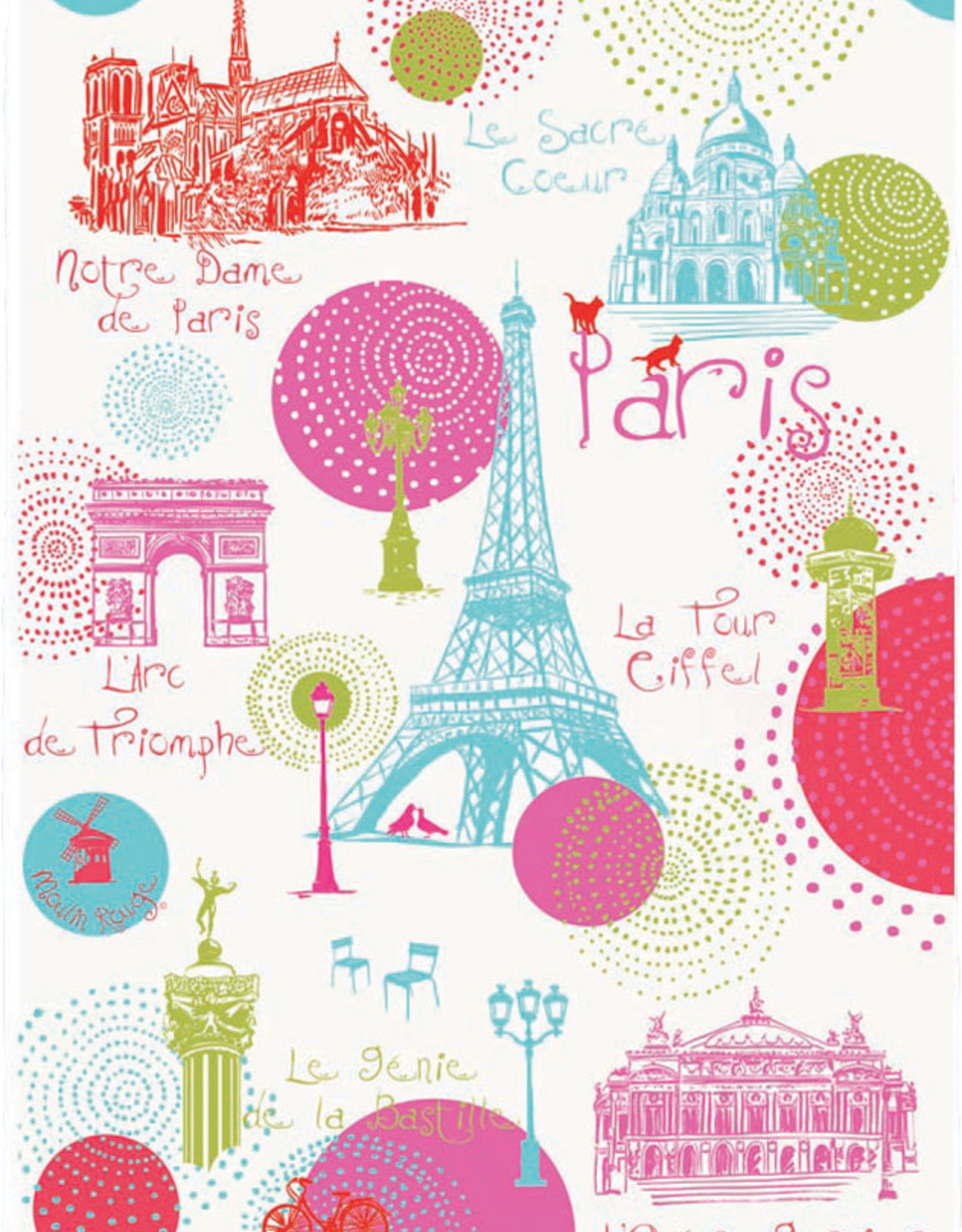 42F Paris Ronds Dish Towel