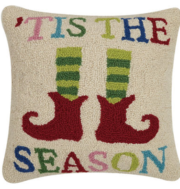 "Tis the Season Hook Pillow - 16"" x 16"""
