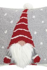 3D Gnome Hook Pillow - 14 x 14