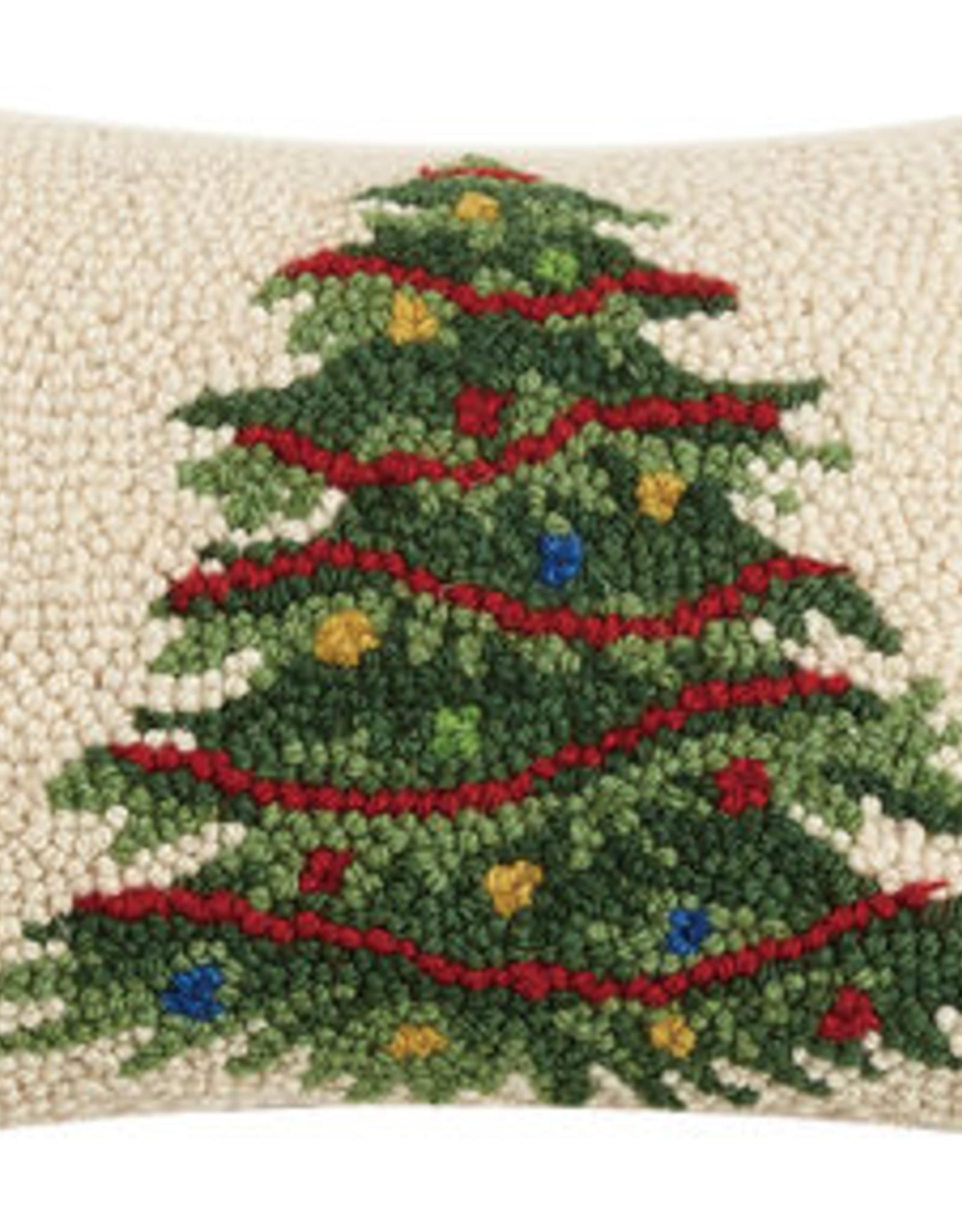 "Christmas Tree Hook Pillow - 8' X 12"""
