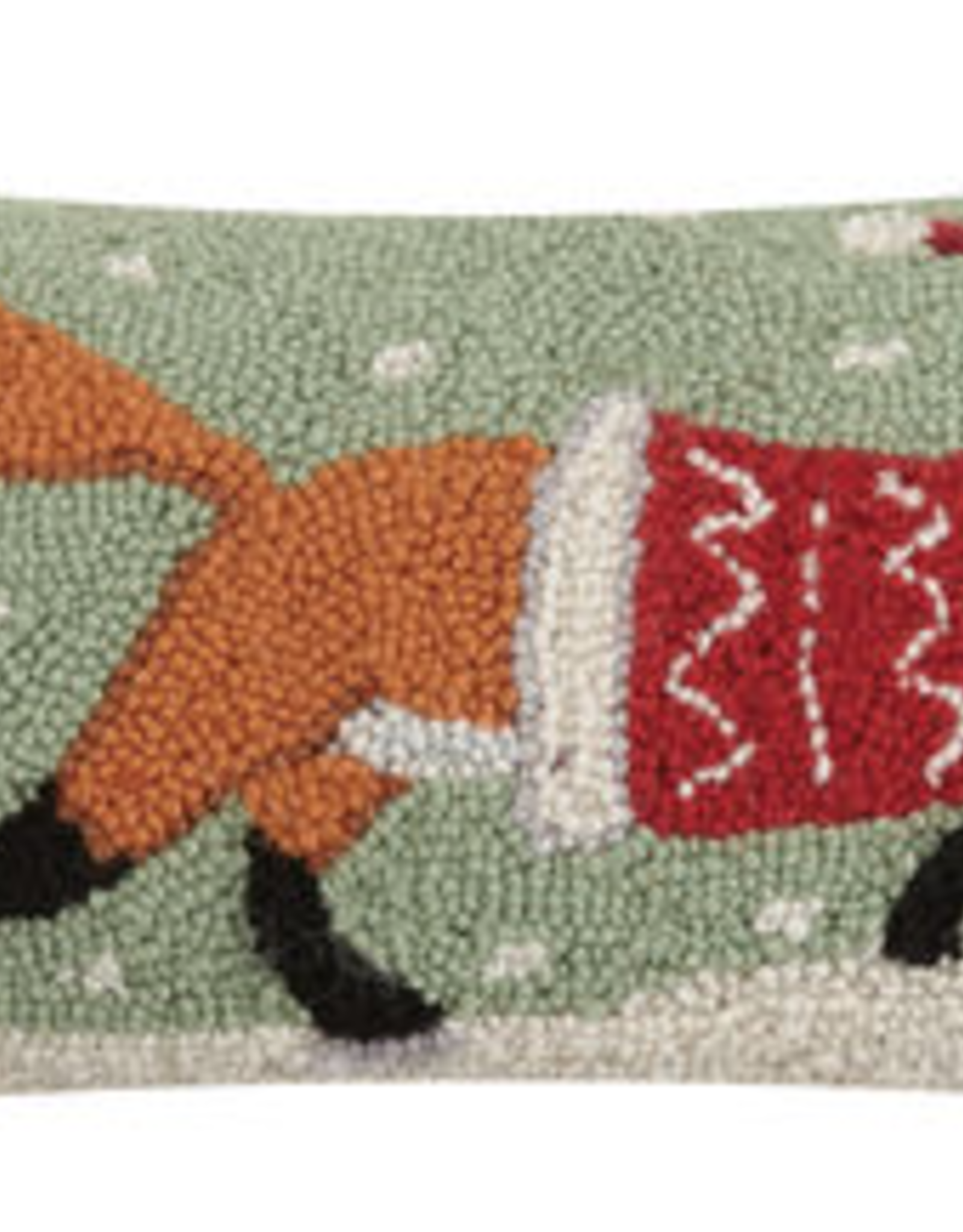 "Christmas Fox Hook Pillow - 8"" x 20"""
