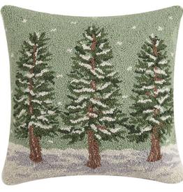 """Winter Trees Hook Pillow - 18"""" x 18"""""""