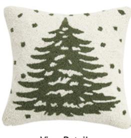 "Christmas Tree Hook Pillow - 16"" x 16'"