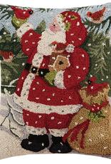 "Snowy Santa Hook Pillow - 16"" x 20"""