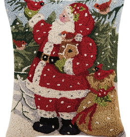"Snowy Santa Hook Pillow - 16"" x 20"""