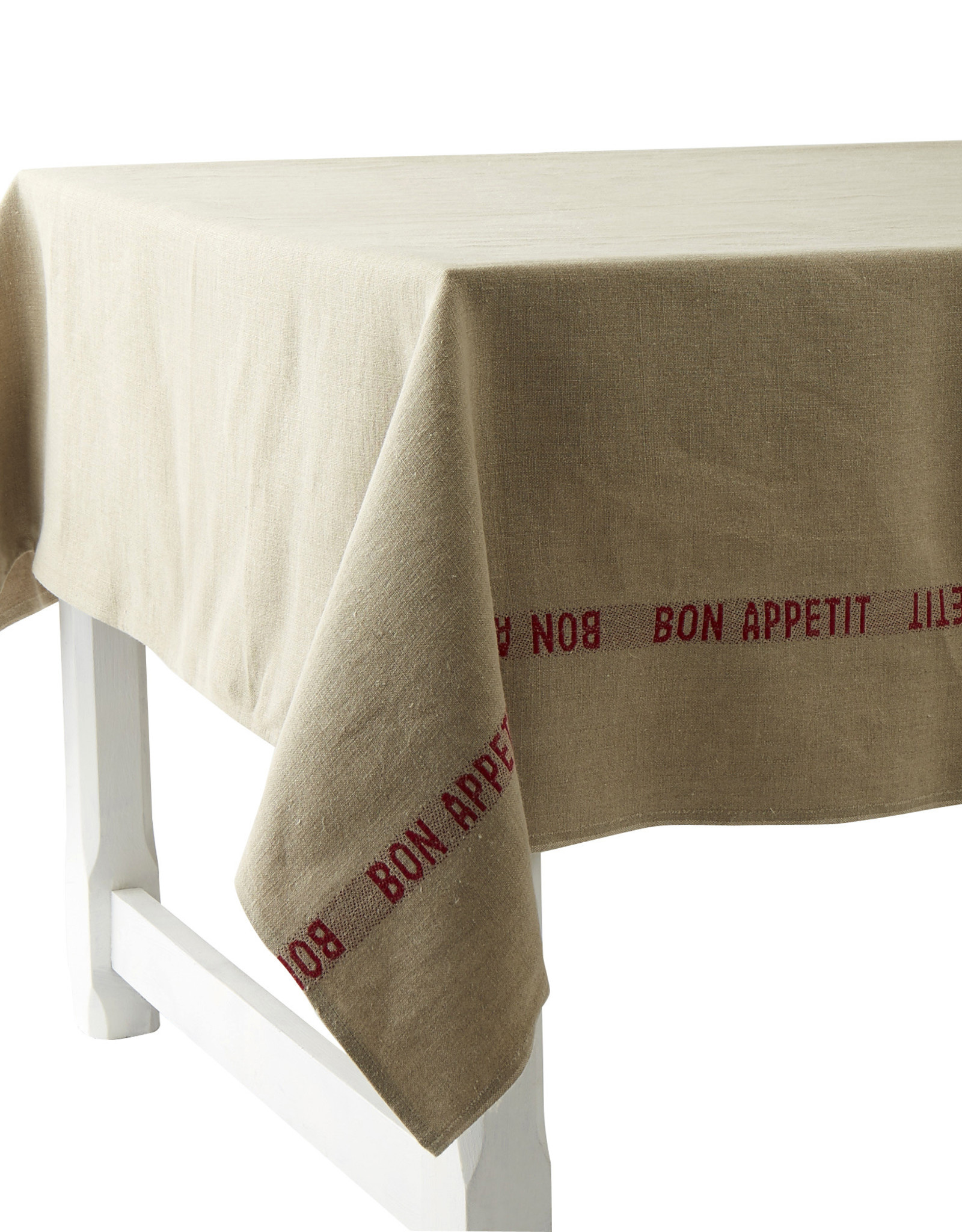 "Tablecloth - Bon Appetit Red 61"" x 126'"