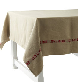 "Charvet Editions Charvet Editions - Tablecloth - Bon Appetit Red 61"" x 110"""