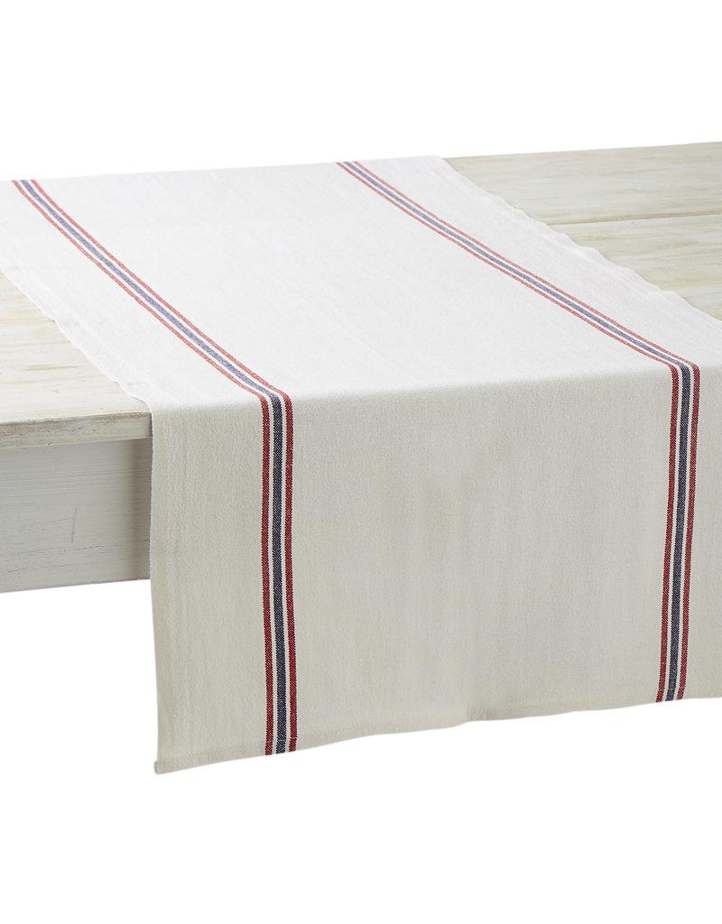 Table Runner - Drapeau White - Charvet Editions
