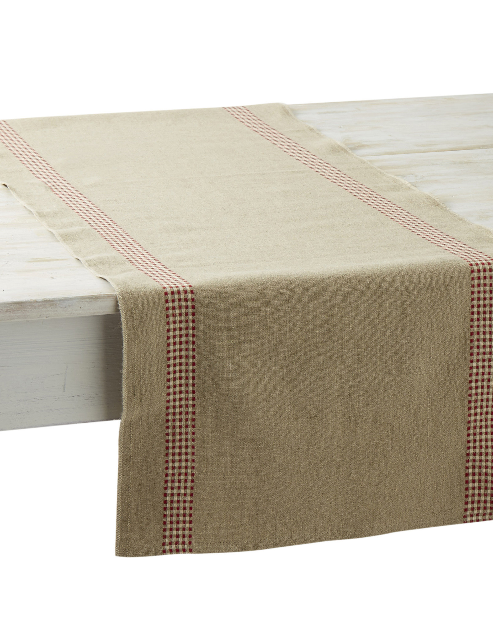 Table Runner - Vichy Red - Charvet Editions