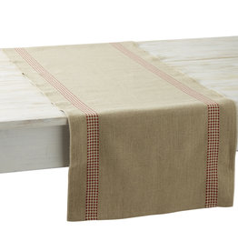 Charvet Editions Charvet Editions - Table Runner - Vichy Red