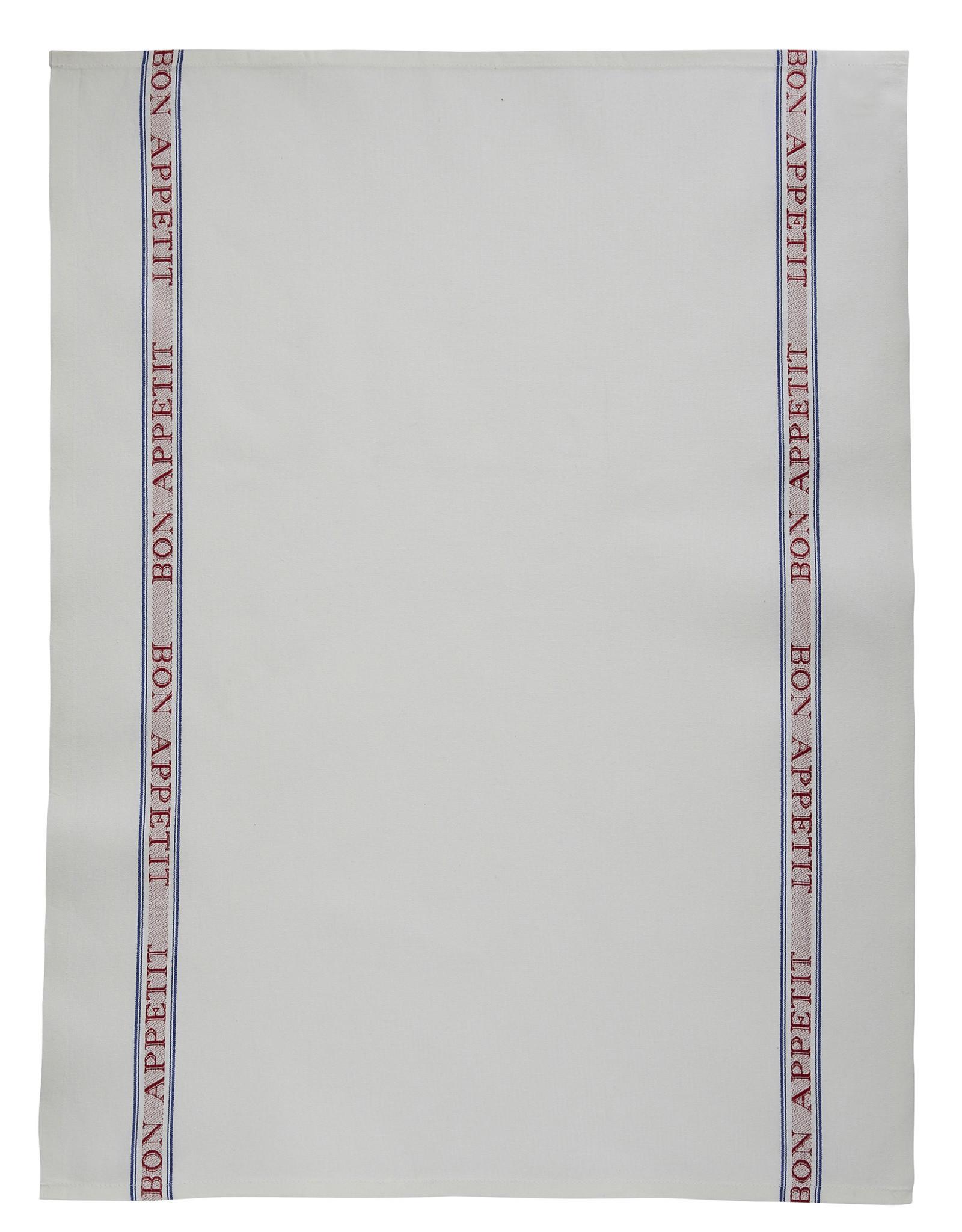 Charvet Editions - Bistro/Tea Towel - Bon Appetit red Cotton