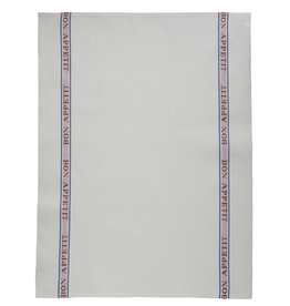 Bistro/Tea Towel - Bon Appetit red Cotton - Charvet Editions