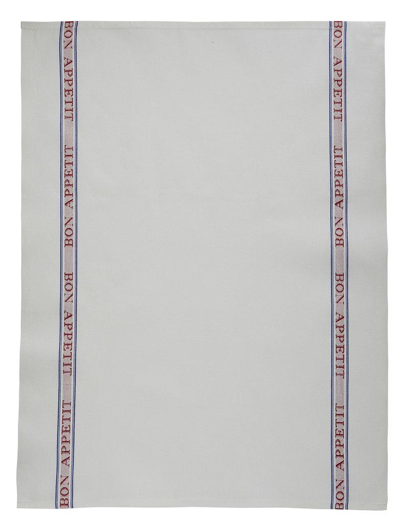Bistro/Tea Towel - Bon Appetit red Cotton - Charvet Editions