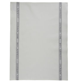 Bistro/Tea Towel - Bon Appetit Gray Cotton - Charvet Editions