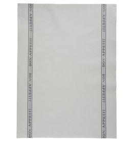 Charvet Editions - Bistro/Tea Towel - Bon Appetit Gray Cotton