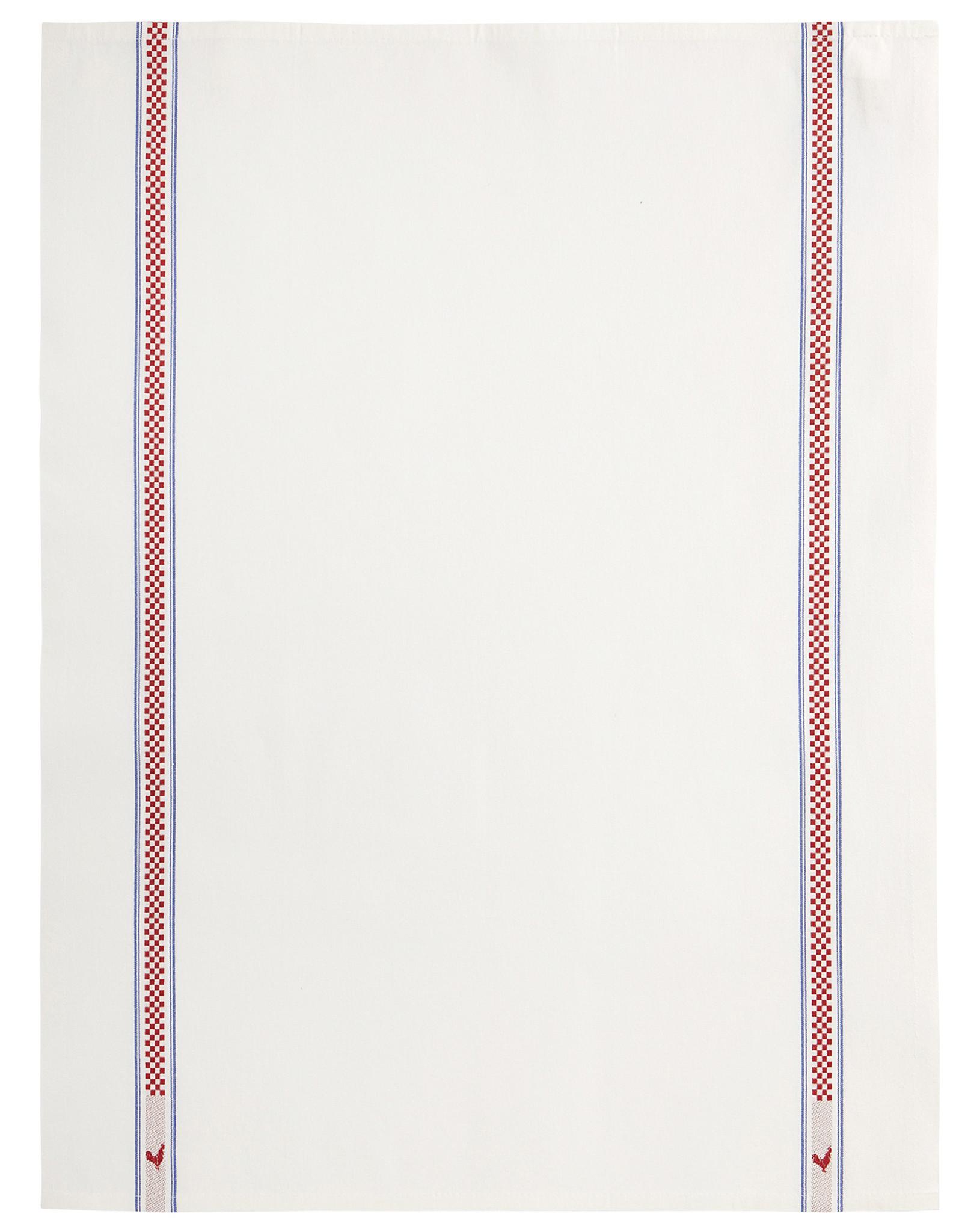 Bistro/Tea Towel Vichy/Coq Cotton - Charvet Editions