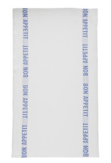 Bistro/Tea Towel Bon Appetit Blue / White - Charvet Editions