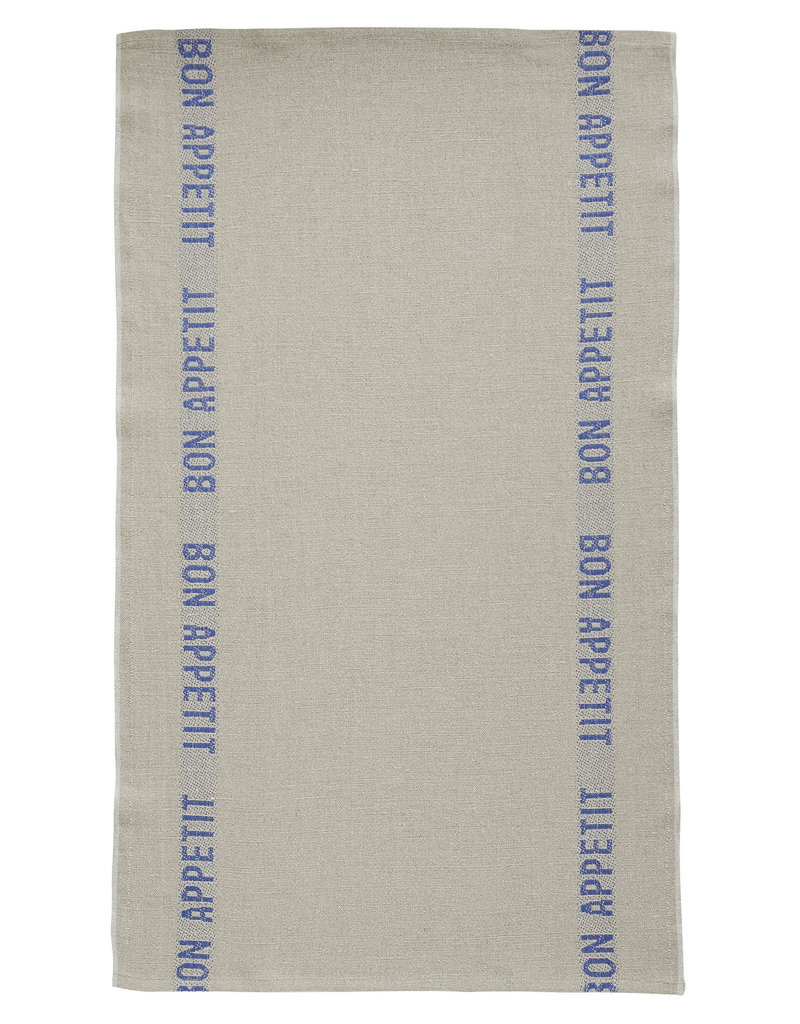 Bistro/Tea Towel - Bon Appetit Blue / Natural - Charvet Editions