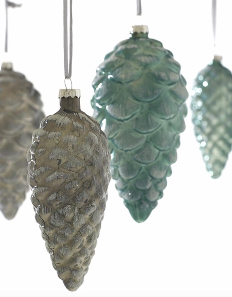 AD Iced Pinecone Ornament Silver - 2.75 x 6'