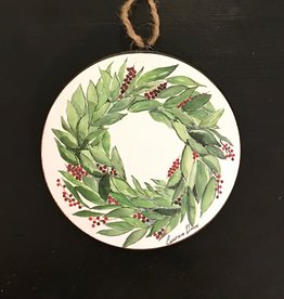 Bay Wreath Disc Ornament