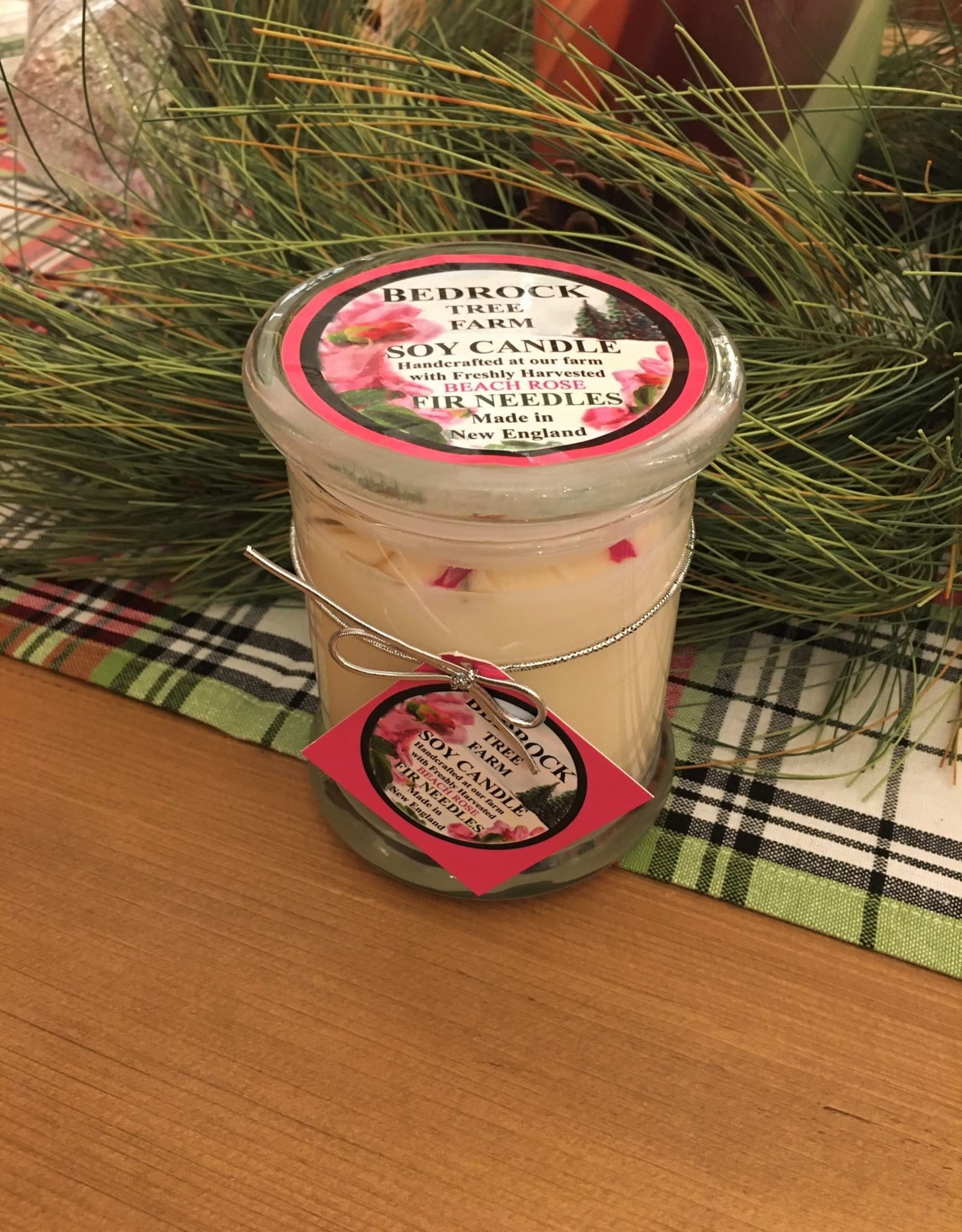 Fir Needle/Beach Rose Soy Candle - 12 oz