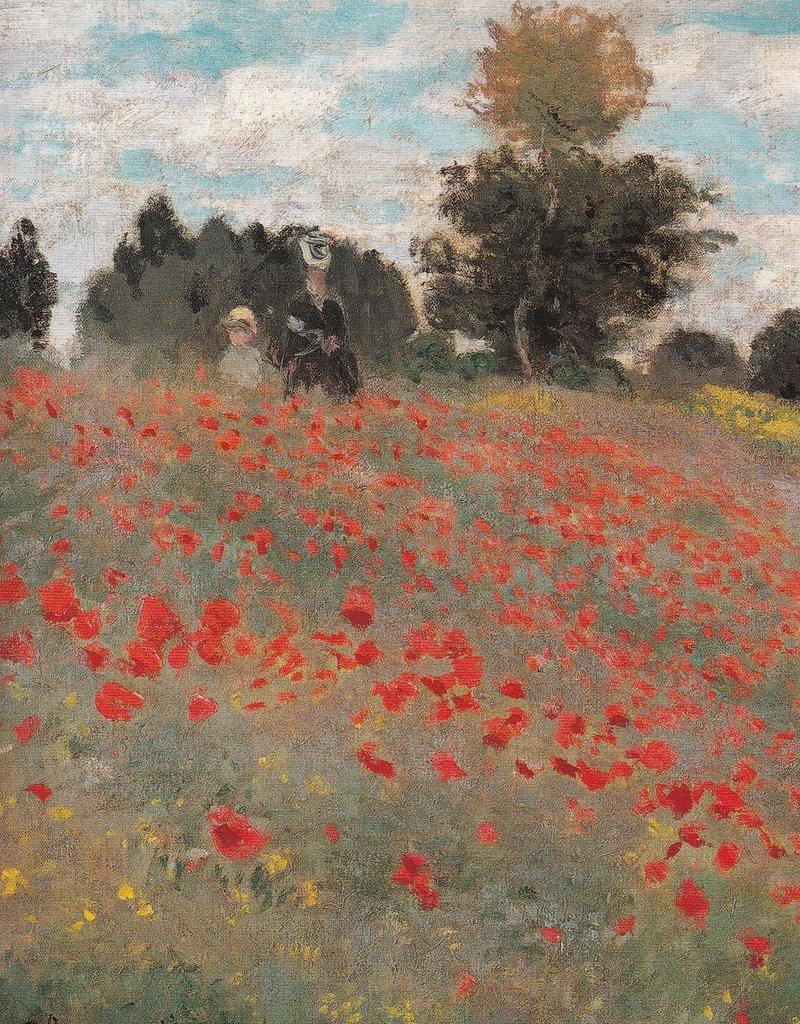 "PGC Les Coquelicots (Claude Monet) Greeting Card - 4 3/4"" x 6 3/4"""