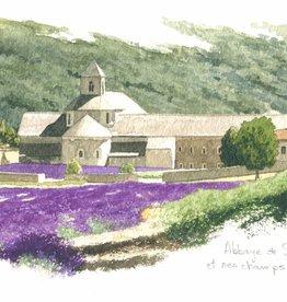 """Abbaye de Senanque Greeting Card - 8 1/4"""" x 4 1/4"""""""