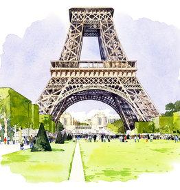 """La Tour Eiffel Vue du Champ de Mars Greeting Card - 6"""" X 6"""""""