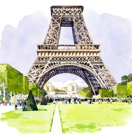 "PGC La Tour Eiffel Vue du Champ de Mars Greeting Card - 6"" X 6"""