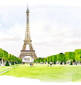 """La Tour Eiffel Vue du Champ de Mars II Greeting Card - 6"""" x 6"""""""