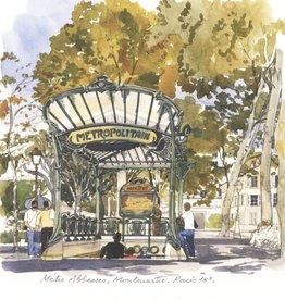 "Metro Abbesses Montmartre Greeting Card - 6"" x 6"""