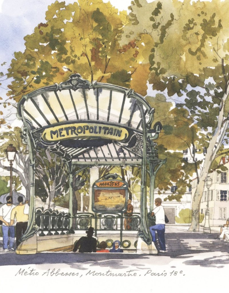 "PGC Metro Abbesses Montmartre Greeting Card - 6"" x 6"""