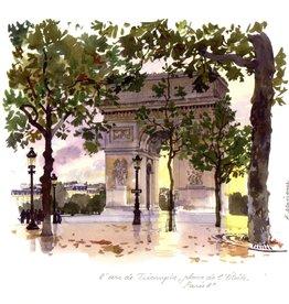 "L'Arc de Triomphe Greeting Card - 6"" x 6"""